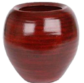 Rustic red terracotta pot