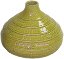Bulb-shaped oloured terracotta vase