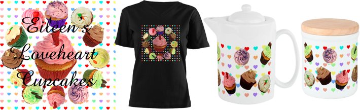 Love Hearts Cupcakes Shop on Cafepress