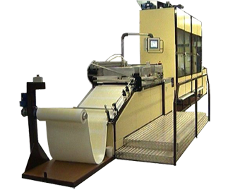 Reel-to-reel decal printing machine